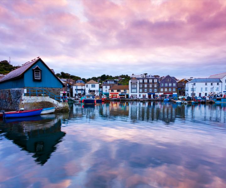 Mevagissey Harbor Cornwall